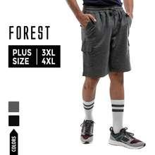 Forest Plus Size Stretchable Cargo Casual Short Pants Men   Plus Size Seluar Pendek Lelaki - 65612