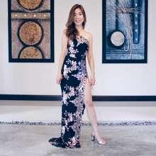 Waltz Sequin Evening Slit Gown