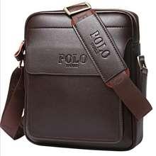 Polo Genuine Leather Men'S Bag Shoulder Bags Business Casual Sling Messenger Bag