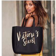 Victoria's Secret Black Gold 2017 Insulated Cooler Beach Tote Gym Bag