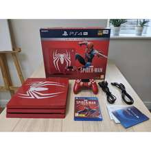 PlayStation Ps4 Pro Spider-Man Amazing Red 1Tb 4 Limited Edition Console