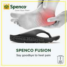 Spenco 🎖100% Original Women Fusion Black Orthotic Arch Support Flat Heel Back Knee Pain Plantar Fasciitis Slipper Sandal