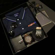 Curren 100% Original ⌚ Men'S Gifts 8225 Watch Polo Shirt Sunglasses Wallet Belt High-End Luxury 5Pcs/Set Gift Set With Gift Box Business Casual Holiday Birthday Gift Father'S Day Gift Men'S Gift Valentine'S Day Gift Tz06170101