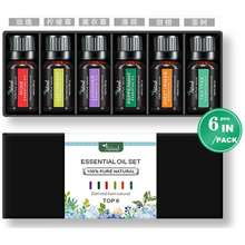 NATURAL Aromatherapy Essential Oil 6Pcs/Pack 100% Pure Organic Aroma Water Soluble For Air Humidifier Healthy