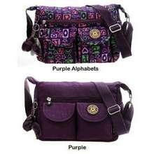 Kipling [Glamyourself] Bag Dual Pocket Nylon Bag Ready Stock