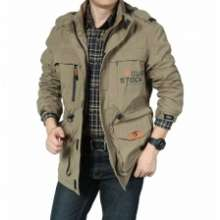 Jeep AFS JEEP Western Design Men Long Sleeve Outdoor Camping Jacket Coat