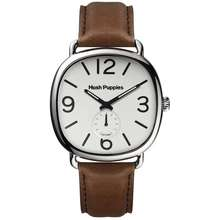 Hush Puppies Watch Hp.3852M.2501 / Men'S / 1958 Vintage / Small Second / Square / 44Mm / Leather / White /Clearance Sale
