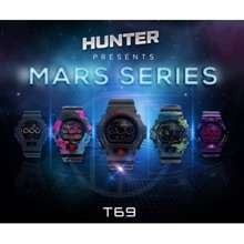 Hunter Model T69 Multi Colour,Warantty 1 Year,Water Proof,Local Brand Sport Watch Readt Stock
