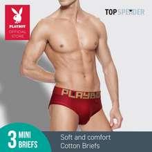 Playboy (3 Pieces) Combed Cotton Men'S Mini Briefs Underwear - B122493-3M XL