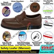 Oscar [C4U] Safety Shoe Cow Leather Men Slip On Loafer 1903 Working Office Formal Kasut Kerja Pejabat Lelaki Kulit Lembu