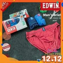 Edwin 100% Original Man Underwear Brief / Seluar Dalam Lelaki / 100% Cotton /