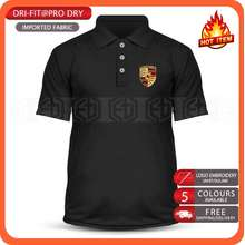 Porsche Dry Fit Microfiber Motorsport Car Racing 911 Carrera Polo T Shirt Baju Unisex T-Shirt Shirts Pakaian Murah Sale