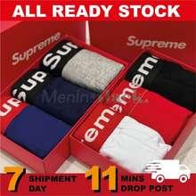Supreme *Local Ready Stock* Trunks (3Psc + Box) 100% Fabric Cotton